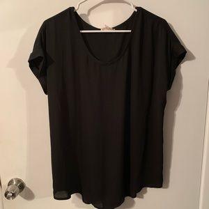 Pleione, flowy black blouse